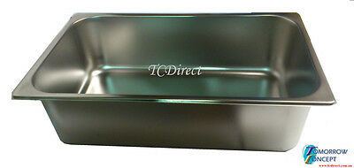 Stainless Steel Bain Marie Tray Pan GN 1/1 100mm deep for Gastronorm