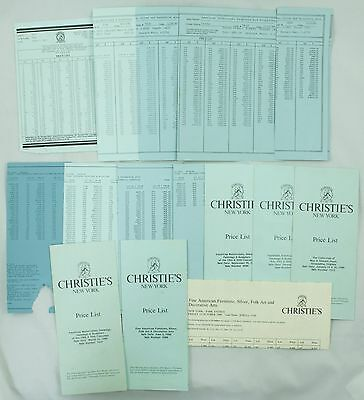 Vintage Christie's Art Auction Catalog Price List Lot