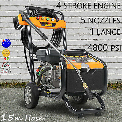 New HIGH PRESSURE WASHER WATER GURNEY CLEANER Petrol 15M Hose 8HP Gerni 4800PSI