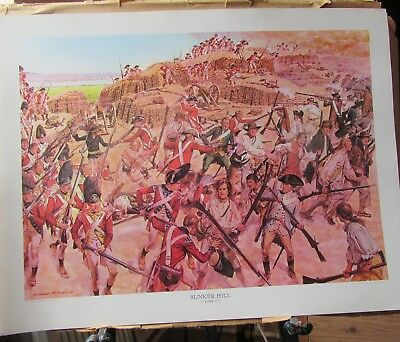 Soldiers of The American Revolution. Bicentennial prints 4 off.