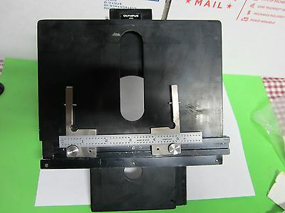 Olympus Stage Table Micrometer Bh-2 ?? Microscope Part Optics As Is Bin#m2