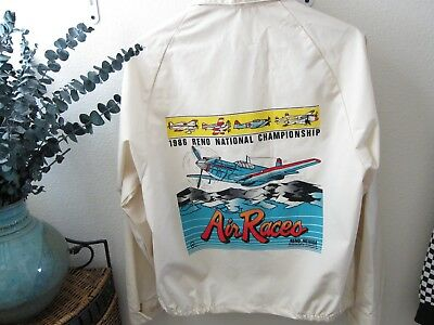 Brand New 1986 AVIATION RENO AIR RACE JACKET/WINDBREAKER-men's sz-MINT