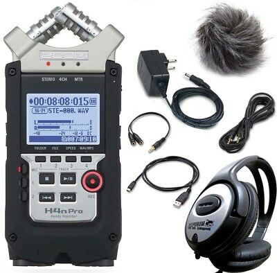 Zoom H4n pro Recorder +APH4n Accessory Set and Headphones