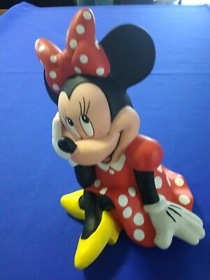 Vintage Disney Minnie Mouse Rubber Plastic Still Coin Piggy Bank