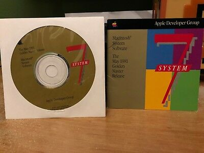 RARE Apple Macintosh System 7 Golden Master CD and Manual