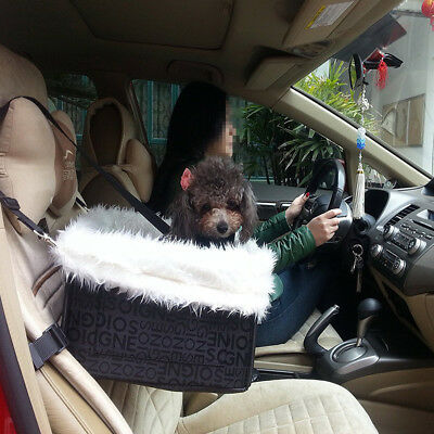 Deluxe Dog Boost Lookout Pet Car Seat W Leash Safety Soft Bed Sheepskin