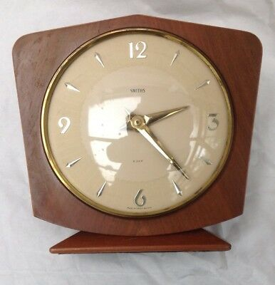 Vintage SMITHS 8-Day Mantel Clock Classic