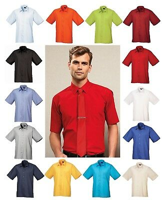Mens Shirt Short Sleeve Formal Business Work Smart Formal Casual Shirt Lot PR202