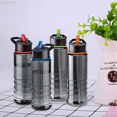 Flip Straw Drinks Sport Gym Hydration Water Bottle Bike Cycling Hiking