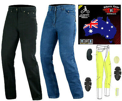 Australian Bikers Men's Jeans made with Kevlar Motorcycle Trousers Jeans Quality