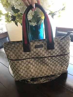 b069107570f GUCCI DIAPER BAG TOTE with changing pad -  170.01