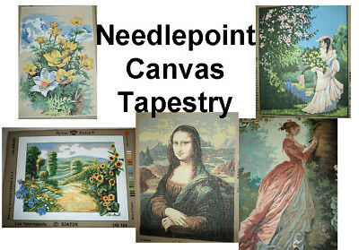 Needlepoint Canvas Printed TAPESTRY - Various Brands - Clearance Prices!
