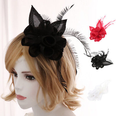 Women's Fascinators Feather Derby Pillbox Hat for Cocktail Wedding Party