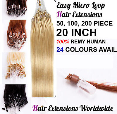 1G EASY LOOP EXTENSIONS DE CHEVEUX A FROID 100% NATUREL micro ring FR121