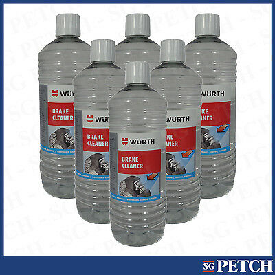 Genuine Wurth High Quality Brake Cleaner Solvent 1 Litre x6 - 0890108100