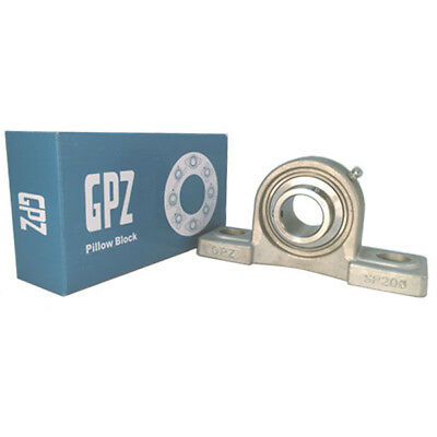 Ss-Ucp-204 Inox / Stainsteel Gpz  Eje / Bore 20 Mm