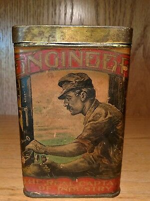 Engineer Cigar Tin. Ultra Rare!!! The Real Captain of Industry.