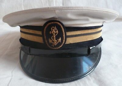 Casquette de Marine COMPAGNIE DES MESSAGERIES MARITIMES Second Capitaine France