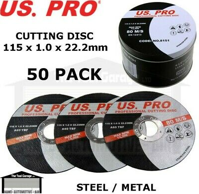 PACK OF 50 Stainless Steel Cutting Discs 115mm x 1.2mm Suitable for Inox /& Mild Steels