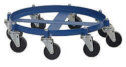 Drum Dolly with Cast Iron Casters 2000 lbs Capacity Steel 8 Heavy Duty Wheels