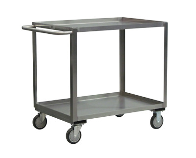 XB124-U5, Stainless Steel Service Carts, 2 Shelves, 1,200lb capacity