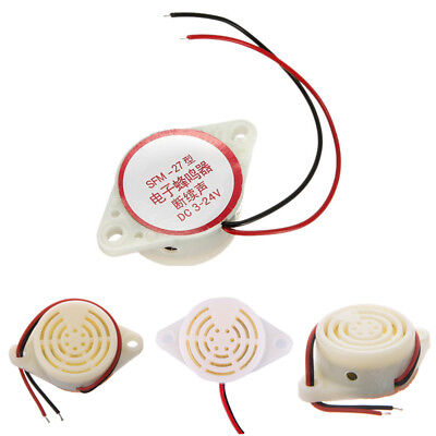 DC 3V-24V 2-Wired Miniature Continuous Sounder Electronic Alarm Buzzer Beep NEW