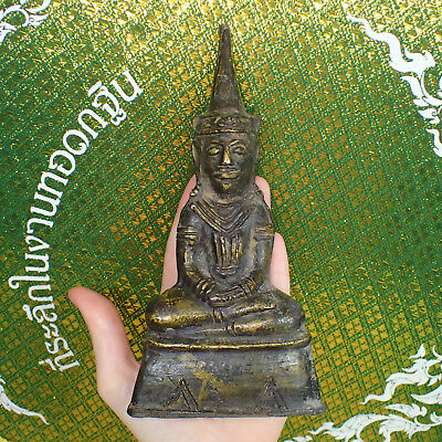 Phra Chai Ngang Bucha Deity Khmer Image Buddha from Cambodia Old Rare Statue