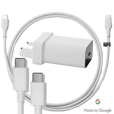 Genuine Original Official Google Pixel Mains Wall Charger & Usb-C Data Cable