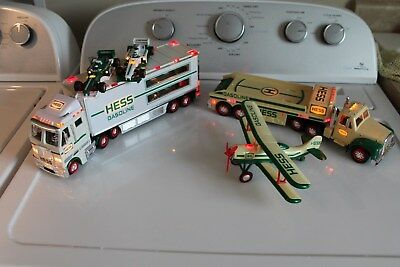 2002 & 2003 HESS TOY TRUCK & RACE CARS & Airplane Used