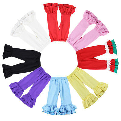 Toddler Baby Girls Icing Ruffle Long Pants Bottoms Bloomers Leggings Trousers