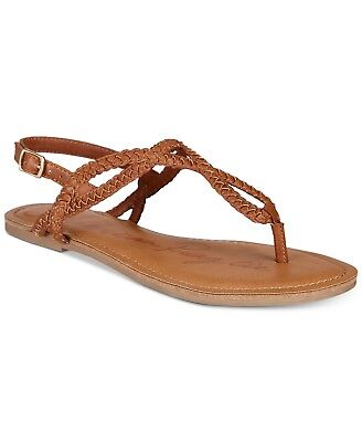 a97a8f270599 American Rag Women s Keira Braided Flat Sandals Size 10 Brown