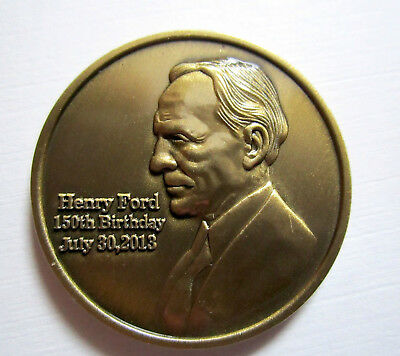 Henry Ford 150th Anniversary Coin Official Ford Licensed collectible in Trifold