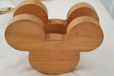 Vintage Disney Mickey Mouse Wooden Napkin Holder Handmade