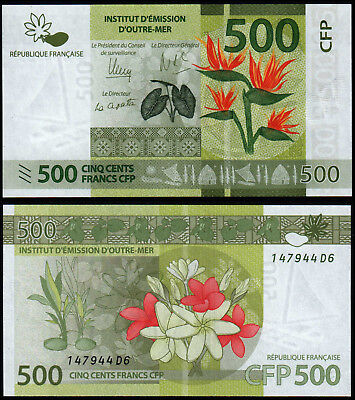 French Pacific Territories 500 Francs (P5) N. D. (2014)  Unc
