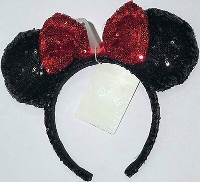Disneyland Black Rose Gold Glitter Ears Headband Disney Exclusive Authentic