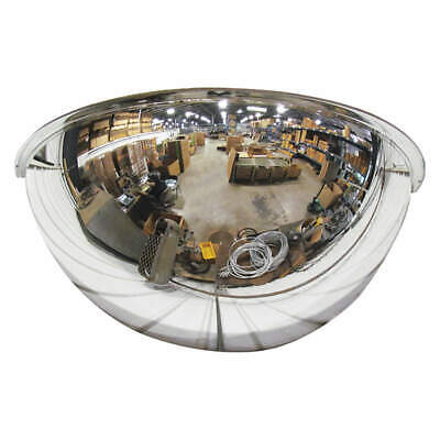 GRAINGER APPROVED Half Dome Mirror,26In.,Polycarbonate, ONV-180-26-PC