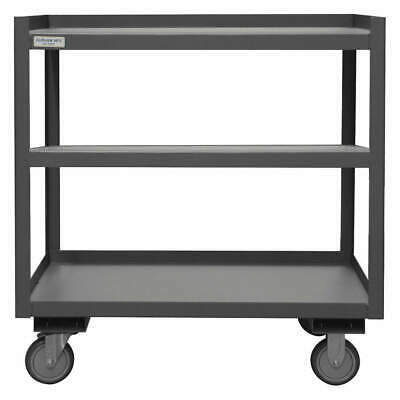 GRAINGER APPROVED Utility Cart,Steel,30 Lx24 W,1200 lb., PSD-2430-3-95, Gray