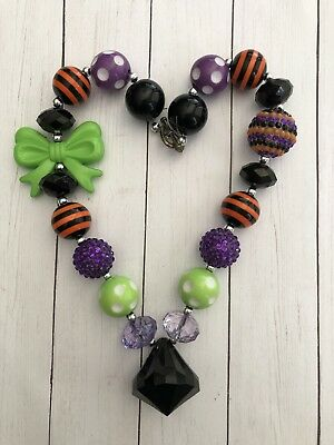Children's Chunky Fall-Halloween Beaded Necklace