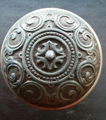 Antique Victorian Eastlake Ornate Door Knob Corbin 1875 H 42400