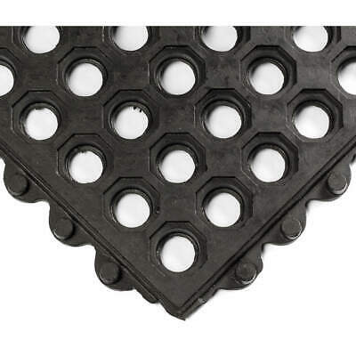 WEARWELL Interlock Drainage Mat,Black,3 ft.x3 ft., 572