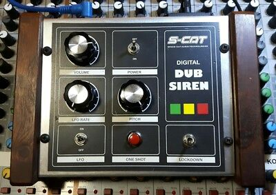 S-Cat digital DUB siren synth effect + power supply. Hand made in England.