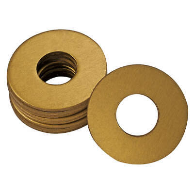 WESTWARD Grease Fitting Washer,1/4 In.,Gold,PK25, 44C506