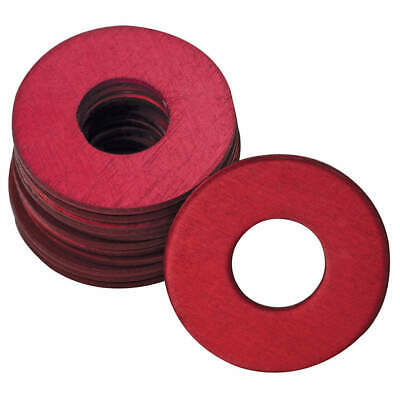 WESTWARD Grease Fitting Washer,1/4 In.,Red,PK25, 44C509