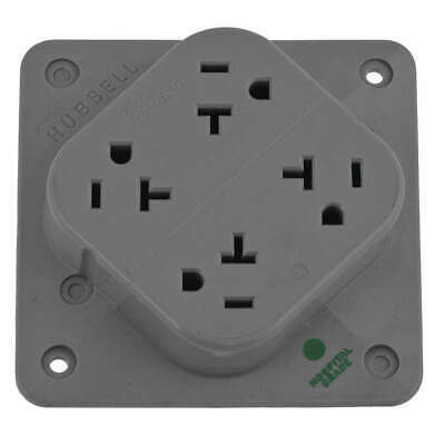 HUBBELL WIRING DEVICE-KE Nylon Receptacle,20A,Quad Outlet ... on quad receptacle outlet, quad port outlet, quad wall outlet, quad power outlet,