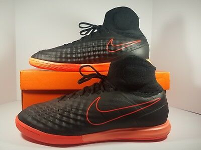 brand new 1a6d4 a01e2 Nike MagistaX Proximo II IC Indoor Soccer Shoes Black Crimson SZ 13 843957- 084