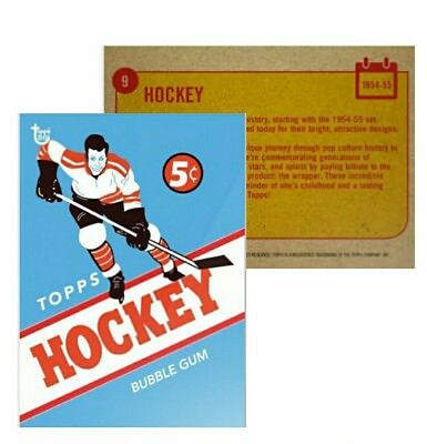 2018 Topps Wrapper Art Bubble Gum Card #9 1954 Design Hockey 80th Anniversary