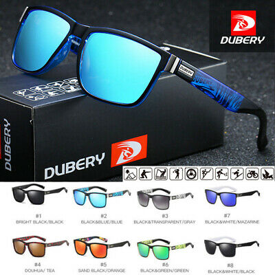 DUBERY Mens Polarized Sport Sunglasses Outdoor Riding Fishing Summer Goggles AU