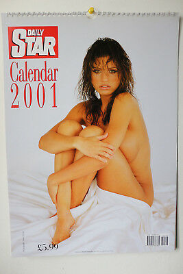 The Daily Star 2001 Topless Collectors Calendar ft. Jodie Shaw (MINT CONDITION)