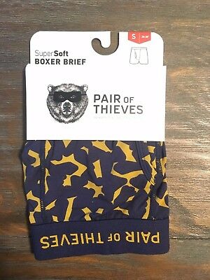 Mens PAIR OF THIEVES Super Soft Boxer Brief Size Small S