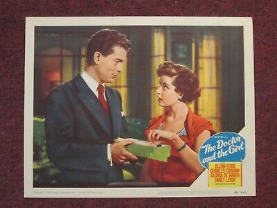The Doctor And The Girl  - Original Lobby Card - Glenn Ford - DeHaven